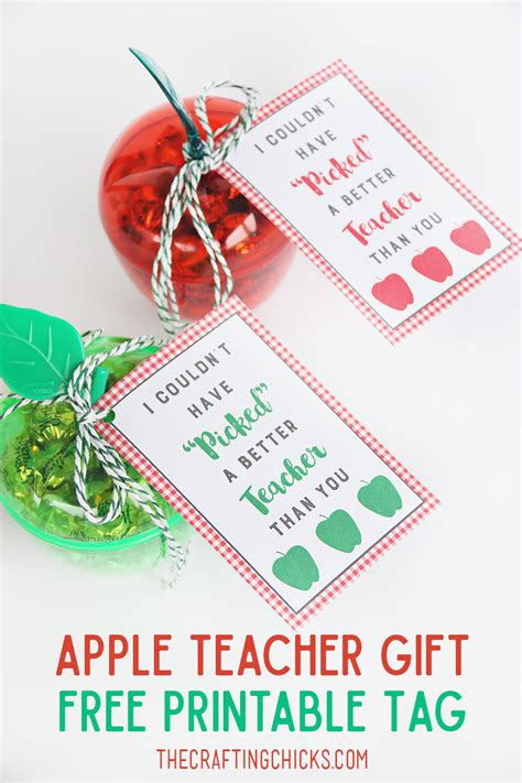printable tags for teacher gifts apple teacher gift tag printable the crafting chicks