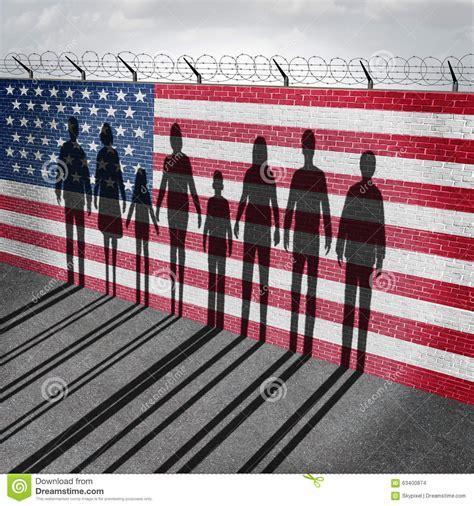 American Immigration american immigration stock illustration image of crossing