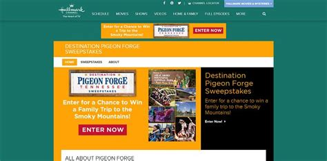 Hallmark Channel Com Giveaway - hallmarkchannel com pigeonforge hallmark channel s destination pigeon forge
