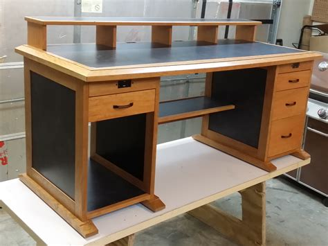 Computer Desk Blueprint Woodworker S Journal Free Plans
