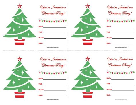 printable xmas party invitations christmas party invitations free printable