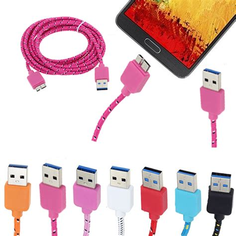 Kabel Data Samsung Galaxy S5 Note 3 Note3 Note Iii Ws k 248 b 10 ft flettet micro usb data sync kabel til samsung