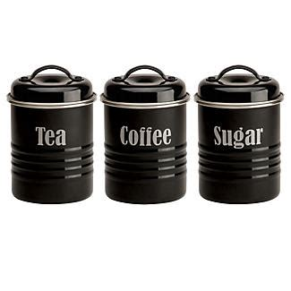 black kitchen canister typhoon 174 vintage kitchen black 3 canister set in canisters
