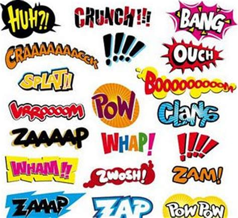 Visual Onomatopoeia by Pop Words Handy For Onomatopoeia Lesson
