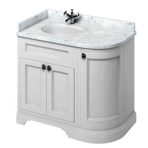 Curved Vanity Unit by Burlington 100 Curved Vanity Unit Uk Bathrooms