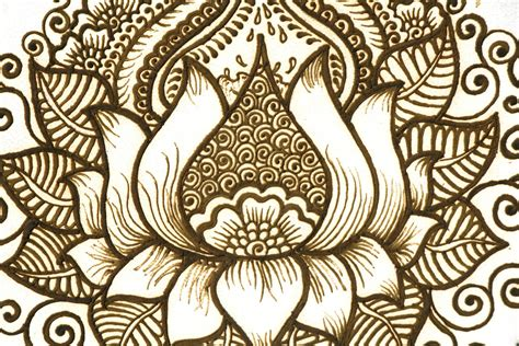henna lotus tattoo on lotus henna mountain tattoos and