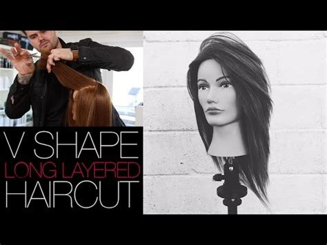 how to cut a v haircut v shaped haircut how to cut a long layered v shape