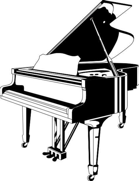 Free Clipart Piano grand piano clip at clker vector clip royalty free domain