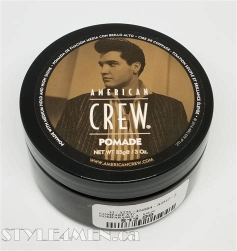 Pomade American american crew pomade for shine in a water formulation style 4