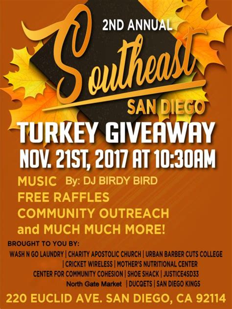 2nd annual southeast san diego turkey giveaway wash go laundry prlog - Free Turkey Giveaway In San Diego