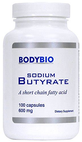 Butyrate Detox by Bodybio Sodium Butyrate Chain Fatty Acid 600mg