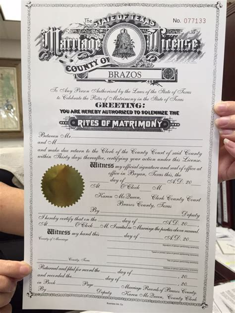 Arlington Tx Marriage Records Brazos County Issuing Marriage Licenses To Same