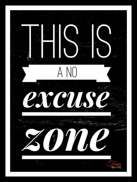 No Excuse no excuse zone get healthy and fit with us