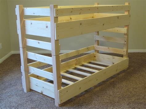 Toddler Size Bunk Bed Toddler Bunk Beds Fits Crib Size Mattresses Or Ikea Vinka