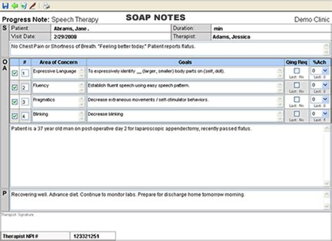 therapy documentation software