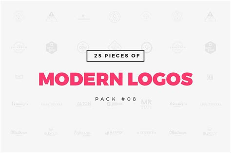 [Pack 08] 25 Modern Logo Templates ~ Logo Templates