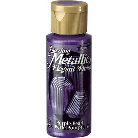 acrylic paint pearl decoart dazzling metallics 2 oz purple pearl acrylic