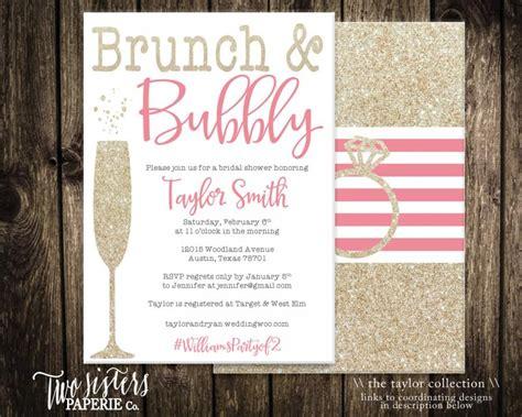 free printable bridal shower brunch invitations brunch and bubbly bridal shower invitation printable
