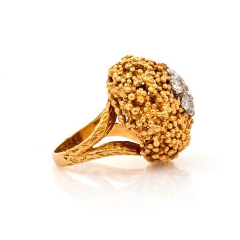 nugget gold cocktail ring at 1stdibs