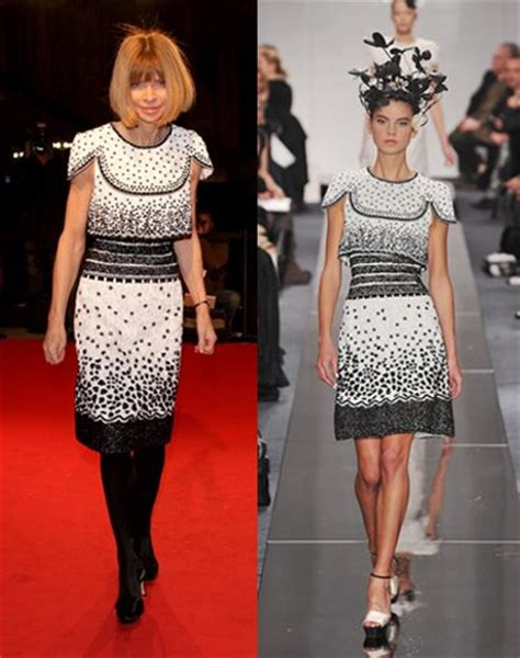 Who Wore Chanel Couture Better Wintour Or by Wintour For Chanel 2009 Couture 171 Cutecarry