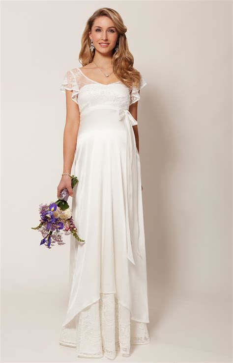 Wedding Clothes by Juliette Maternity Wedding Gown Ivory Maternity