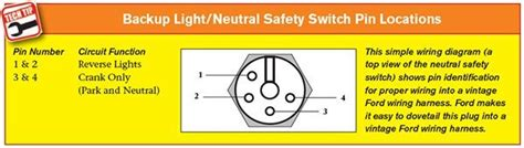ford aod neutral safety switch wiring diagram wiring