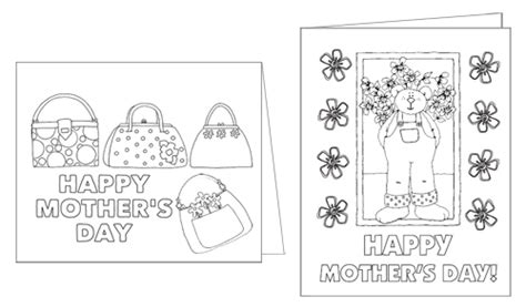 preschool mothers day card template printable color me s day cards your way