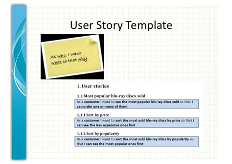 user story template cyberuse