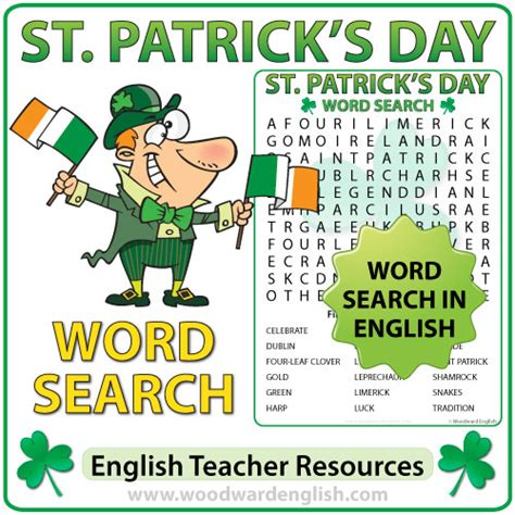 s day song esl patrick s day word search