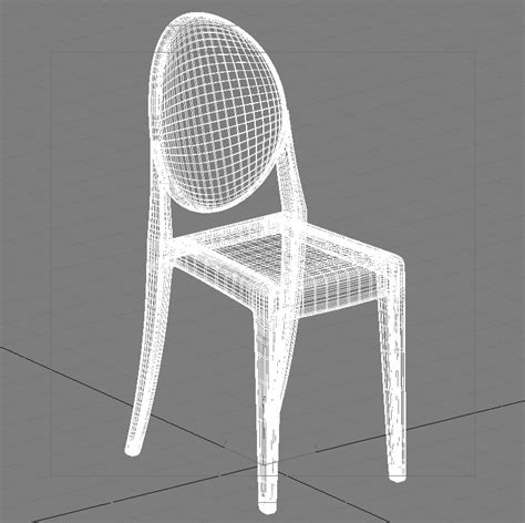 stuhl 3d modell 3d ghost chair phillipe starck high quality