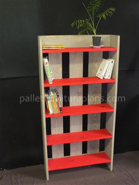 pallet bookcase diy and simple pallet furniture plans
