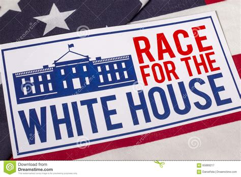 race to the white house race to the white house presidential election stock photo image 65889217