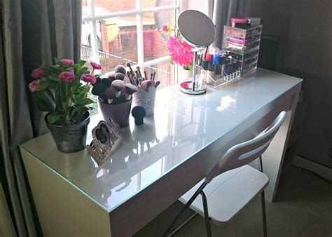 beauty blogger vanity table suggestions my makeup table storage mummy s corner