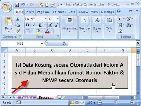 format excel import data e faktur barcode e faktur pajak efaktur converter