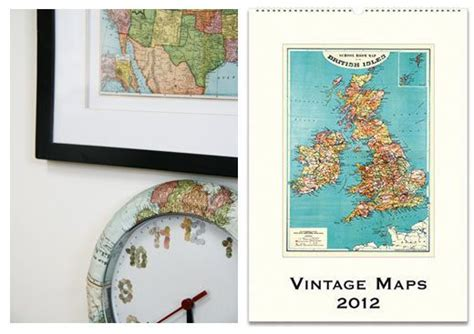Map Decoupage - decoupage furniture with maps furniture
