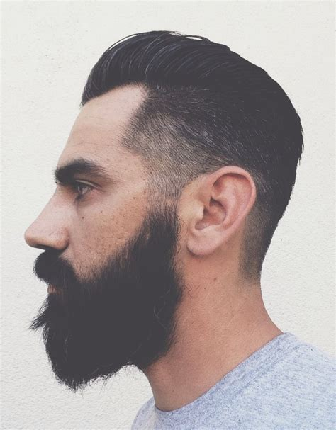 pompadour hairstyle with beard pompadour fade beard men s hair haircuts fade haircuts