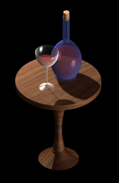 Wine Glass Table Ls by Wine Glass Bottle And Table By Aszereth On Deviantart