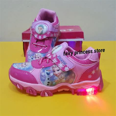 Sepatu Boots Pink Anak Perempuan Karakter Princess Cxb347 jual elsa frozen pink sport l shoes sepatu anak impor di lapak princess store