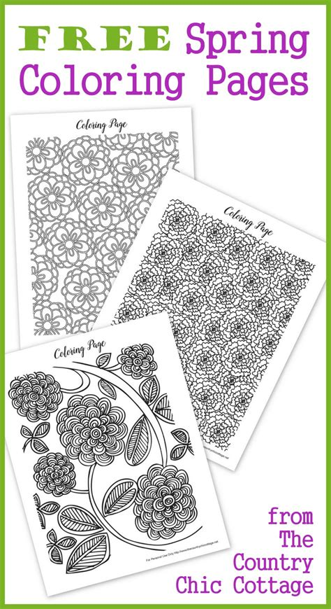 intricate spring coloring pages free spring coloring pages for adults the country chic
