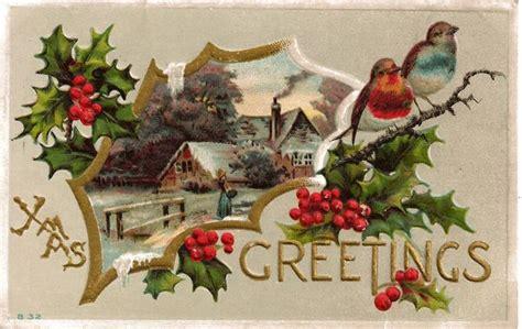 Christmas Greetings Postcard With Loveyuntry Scene