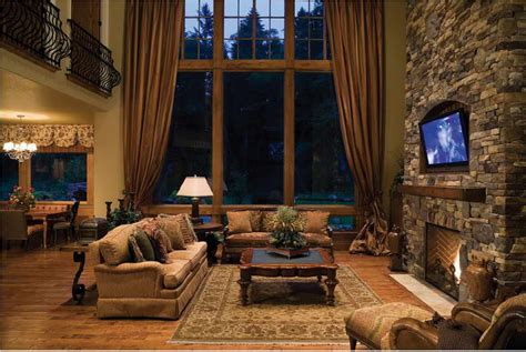 rustic family room ideas living room rustic living room design ideas with drapery