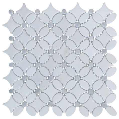 flower pattern wall tiles italian carrara white marble polished and floral design