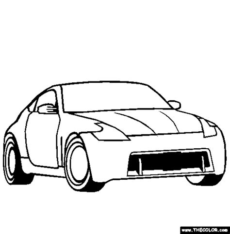 370z Coloring Page by Cars Coloring Pages Page 1