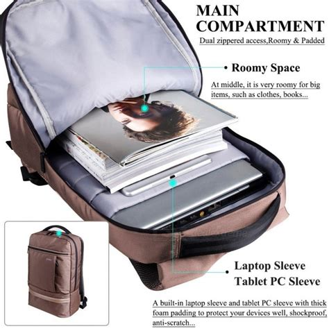Dtbg Business Travel Backpack Laptop Bag D8053w 156 Inch Grey dtbg d8053w ultra lightweight water resistant 15 6 quot travel business backpack college