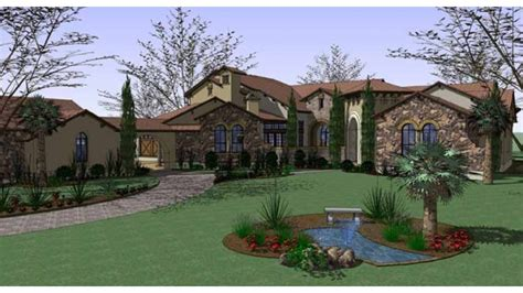 seven bedroom house home plan homepw74300 7752 square foot 6 bedroom 7