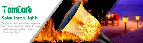 tomcare solar lights waterproof flickering flames amazon com tomcare solar lights solar torches lights 96