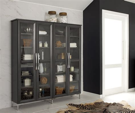 glass door storage cabinet cherry kitchen with glass cabinet doors decora