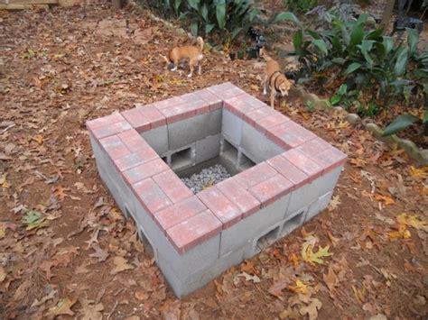 Cement Block Fire Pit Fire Pit Ideas Cinder Block Firepit