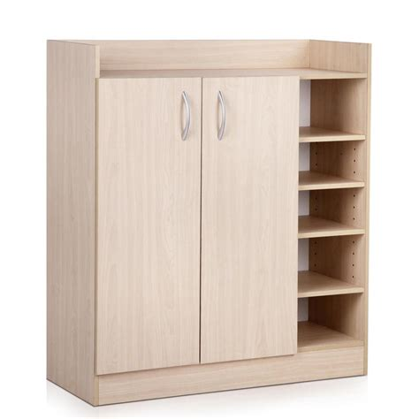 2 Doors Shoe Cabinet Storage Cupboard Timber Au Ebay