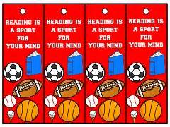 free printable hockey bookmarks classroom theme resources from teacher s clubhouse